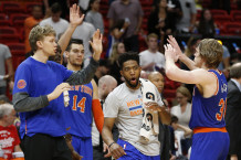 """Knicks"" be Kuzminsko, Anthony ir Rose'o triumfavo Majamyje"