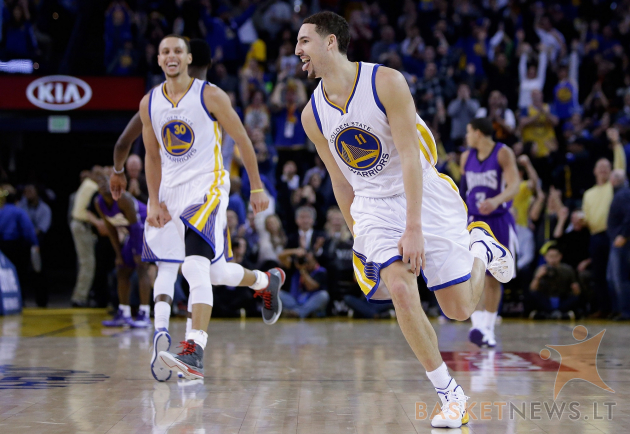 "Klay Thompsonas ir Stephenas Curry – pagrindiniai ""Warriors"" vedliai į pergales"